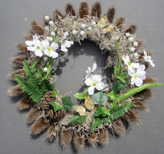 A wreath I made for my dear Aunt Anna's funeral.