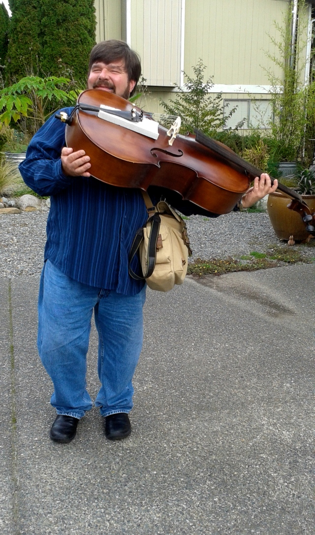 Peter with his new cello!