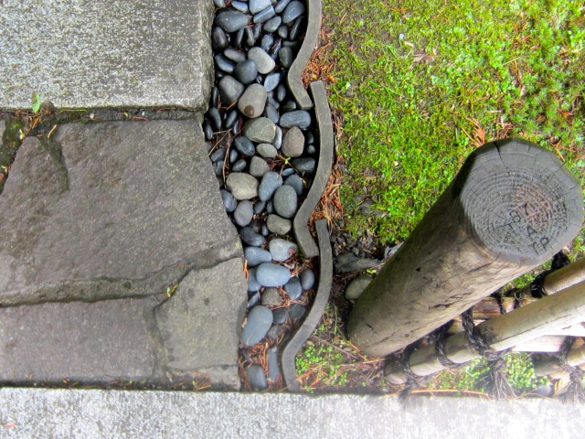 Here is my first Vignette. The photo was taken in the Portland Japanese Garden. I love how they combine and use materials. Note the roof tiles that here serve as edging. Ingenious, in my opinion!