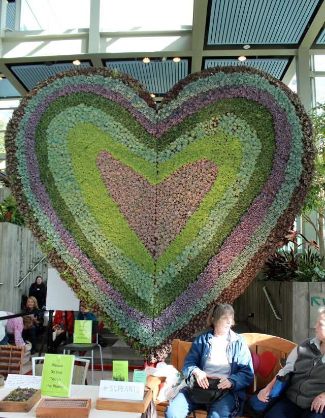 Being that it fell on Valentines Weekend, the theme of the show this year was Love & Romance. There was an impressive succulent heart in the entrance hall.