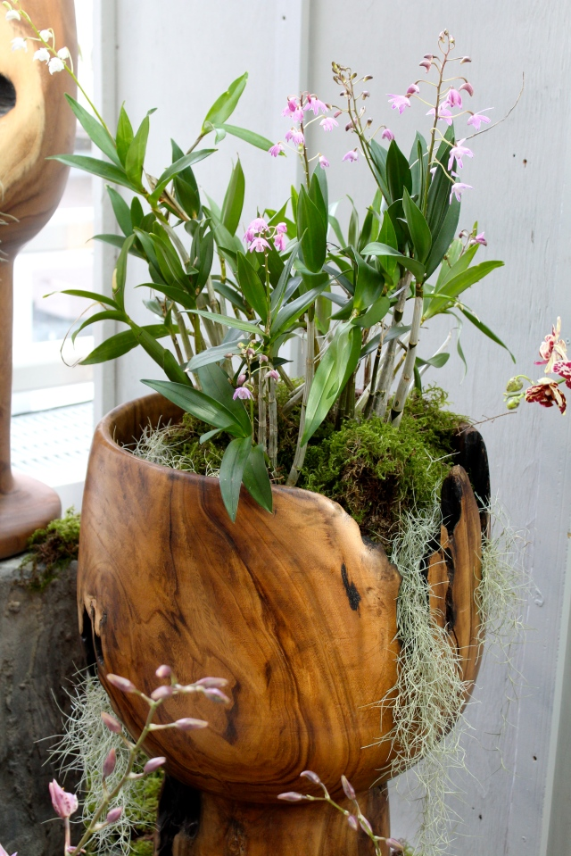 Beautiful wooden planter.