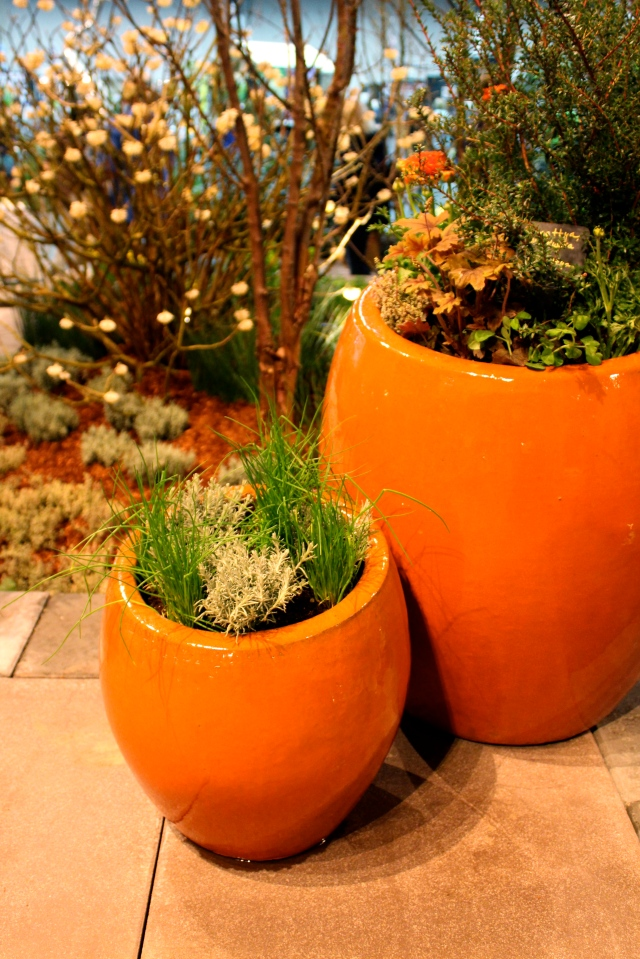Loved these orange pots!