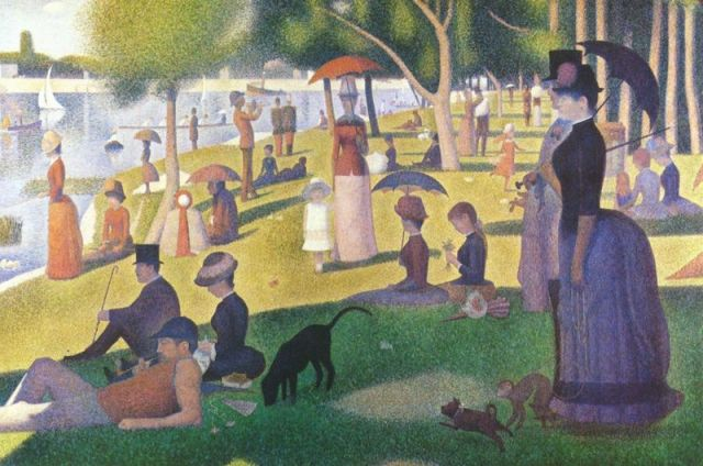 'A Sunday afternoon on the Island of La Grande Jatte' - a famous painting by the pointillist painter George Seurat became the inspiration for Topiary Park in Columbus Ohio.