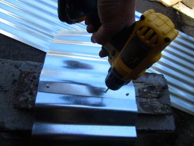 Match up the grooves on each end of the panel, and drill some holes - reasonably evenly spaced.