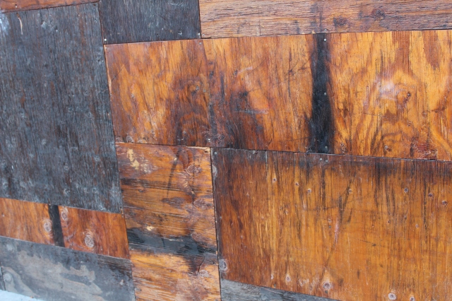 Plywood patchwork