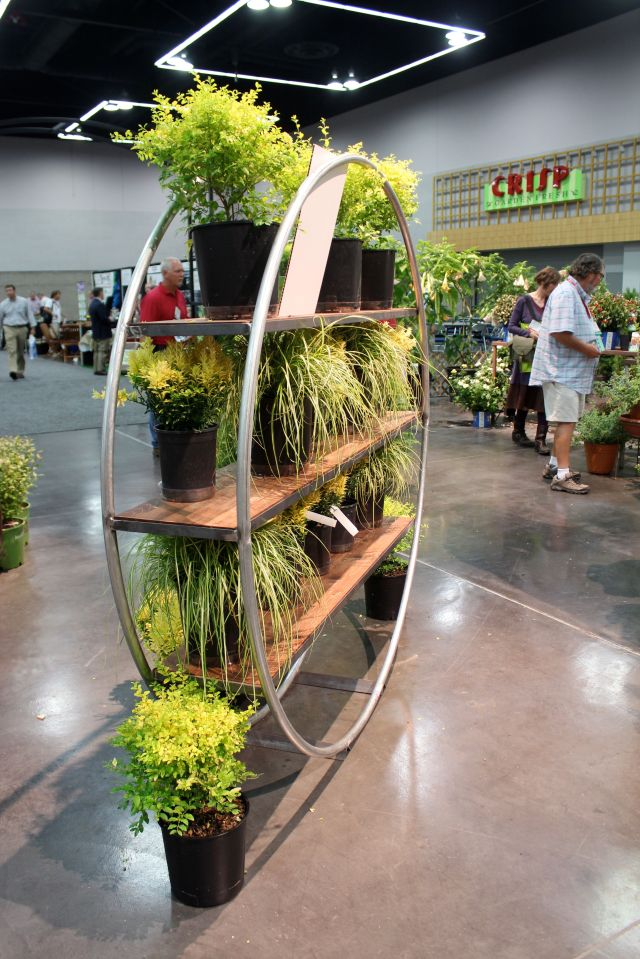 There is always an area full of novelty plants. When you enter, you get three tokens that you get to vote for your three faves with. I wanted to vote for the shelf...