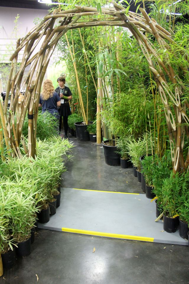 The arch at the Bamboo Garden Nursery's display - so cool!