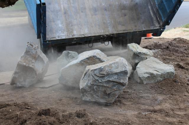 Boulders being delivered!
