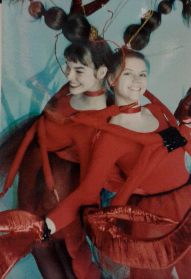 Here are the original Lobster Ballerinas - Kat and I.