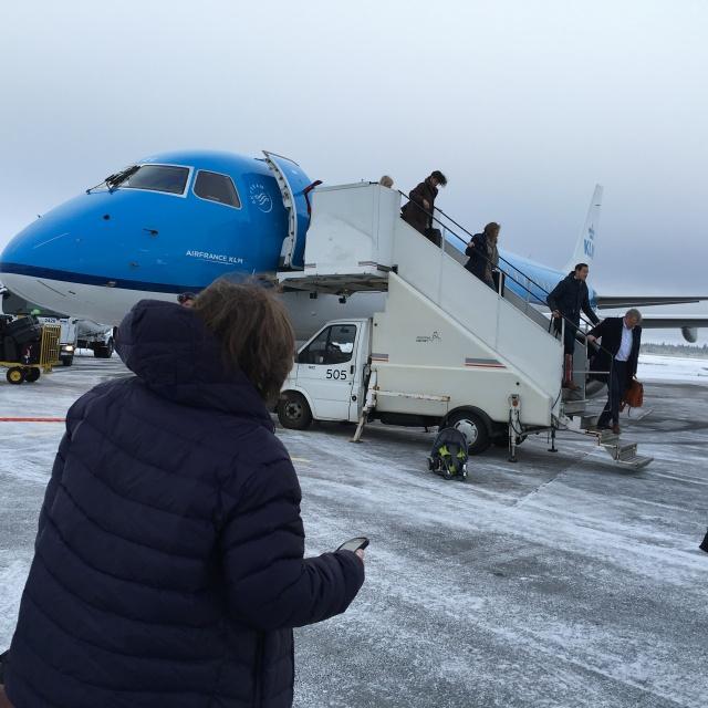 We landed safely in