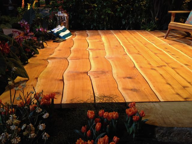 The one thing that was my absolute favorite highlight of NWFGS was this deck. I LOVED how the contours of the planks had been allowed to fit into each other. So unique and beautiful!